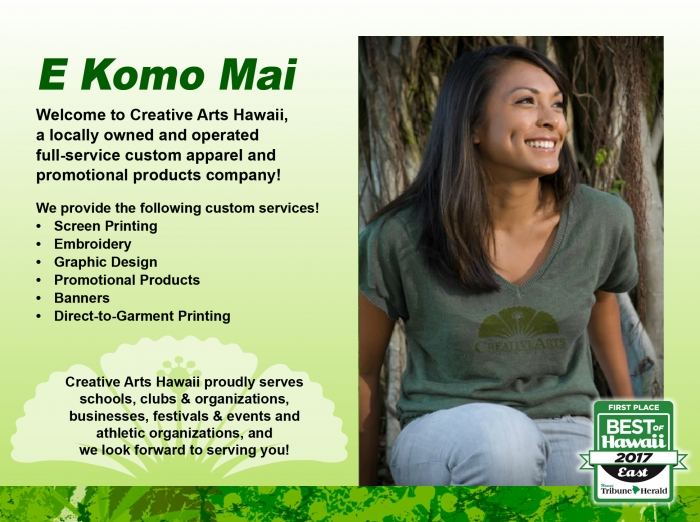 Creative Arts Hawaii | Custom T Shirts, Banner & Screen